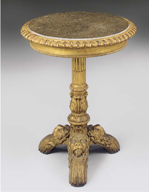 AN EARLY VICTORIAN GILTWOOD CI