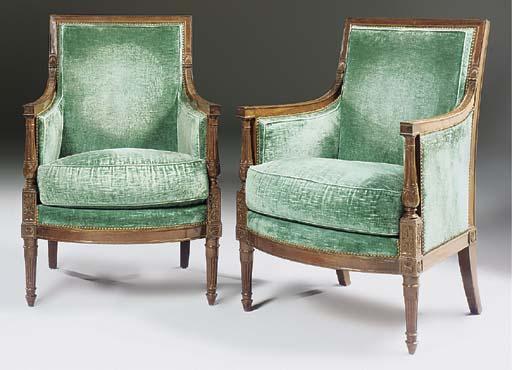 A pair of Directoire mahogany