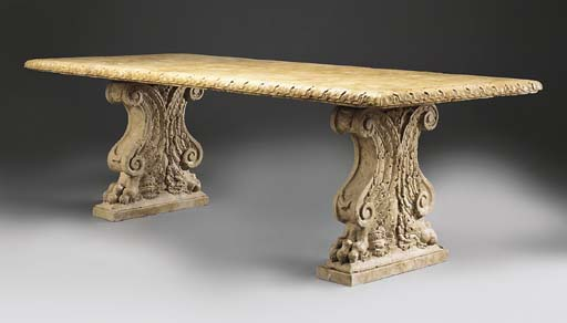 A large Verona marble table