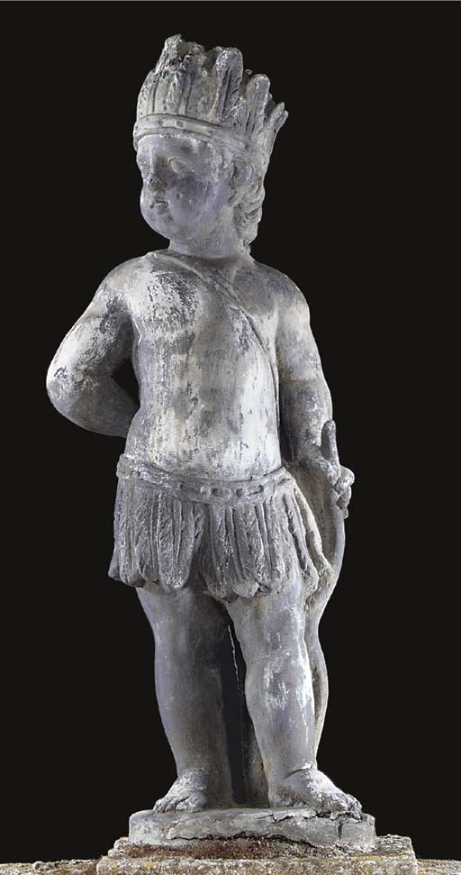 An English lead figure of a bo