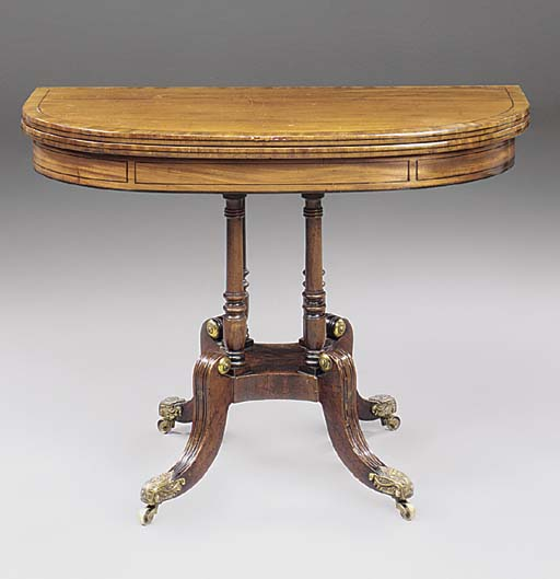 A REGENCY SCOTTISH MAHOGANY AN