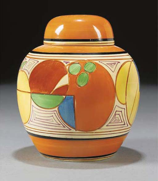 A MELON GINGER JAR AND COVER