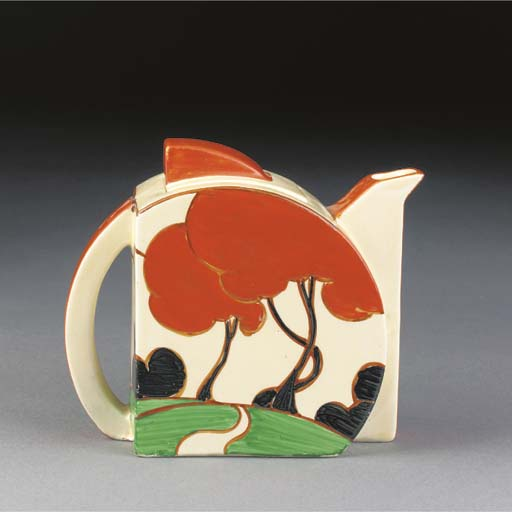 A Red Autumn Stamford Teapot