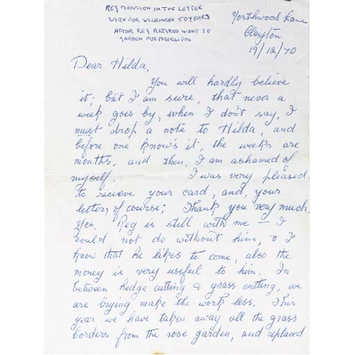 Three hand-written letters fro