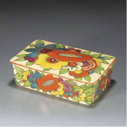 A FLORAL CIGARETTE BOX