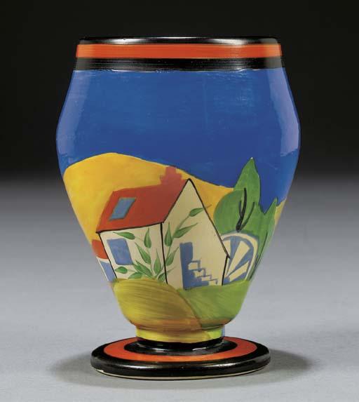 An Applique Lugano Vase