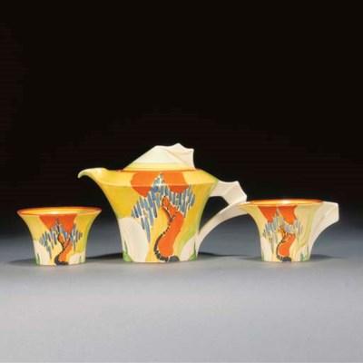 A Windbells Daffodil Tea Set