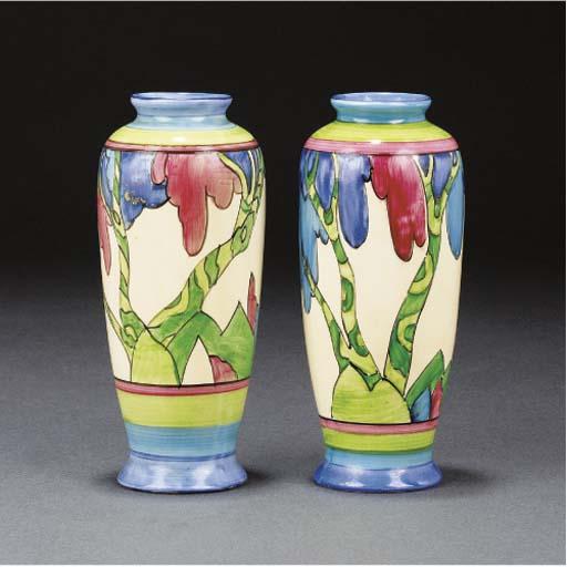 A Pair of Rudyard Vases