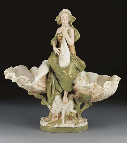 A Royal Dux figure of an Art N
