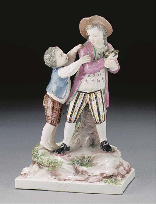 A Strausbourg Faience group of