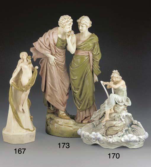 A Royal Dux figure group