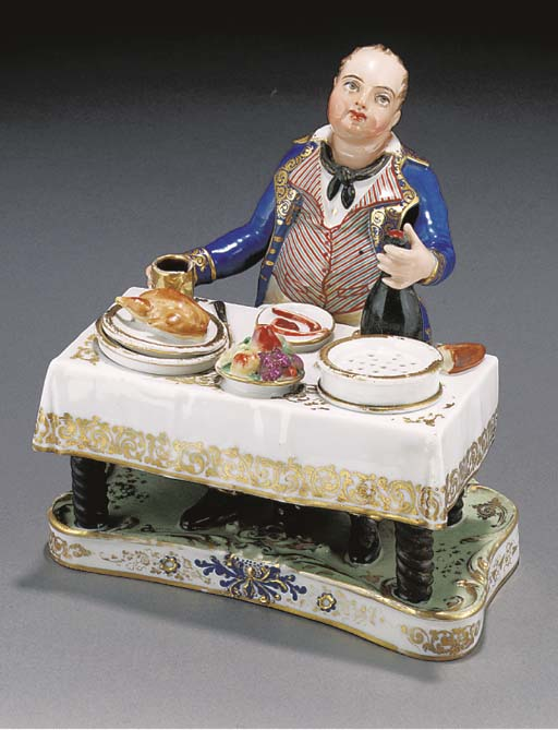 A French porcelain inkstand