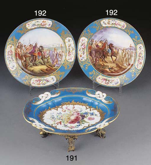 Two Sevres-style plates