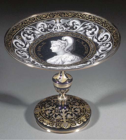 A Limoges Revival silver and e