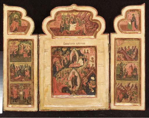 A triptych of the ressurection