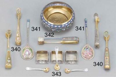 A Russian enamelled sugar bowl