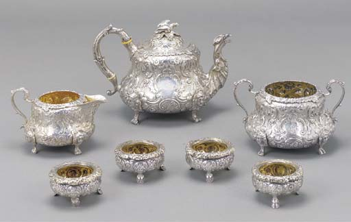 A WILLIAM IV THREE-PIECE SILVE