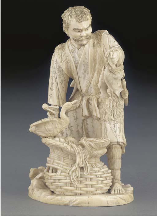 An ivory okimono, 19th century