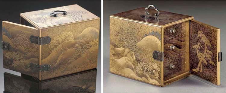 A lacquer table cabinet (kodan