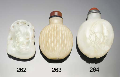 A white jade carved pendant, 1