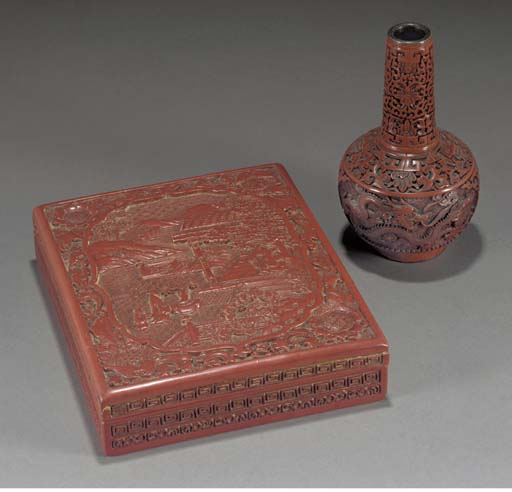 A Japanese lacquered wood box