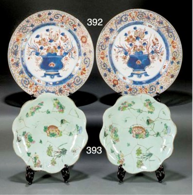 A pair of Chinese Imari dishes