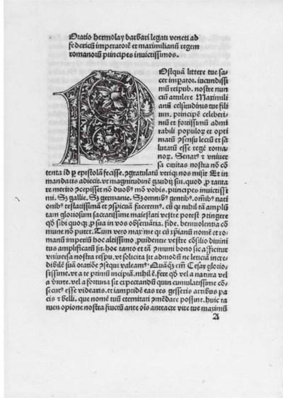 BARBARUS, Hermolaus (1454-1493