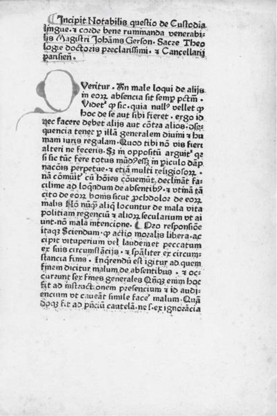 GERSON, Johannes (1362-?1428).