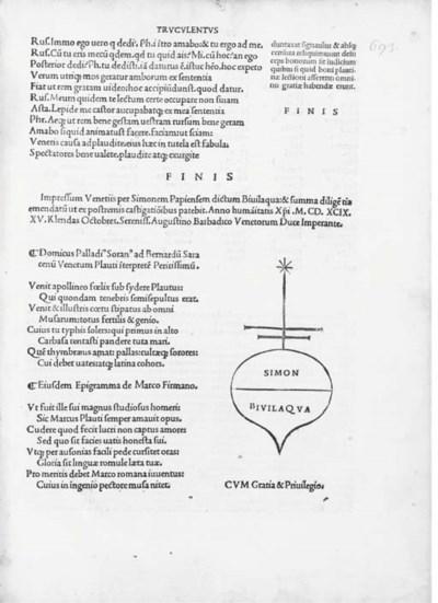 PLAUTUS, Titius Maccius (c.254