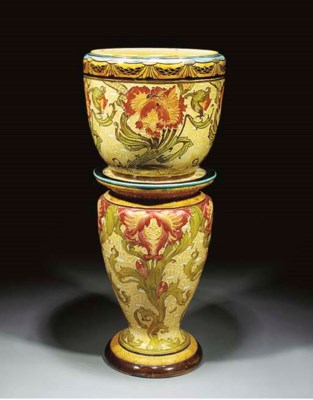 A Jardiniere and Stand