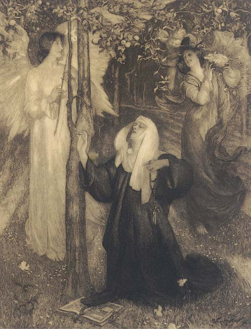 An Angel Appearing Before a Nu