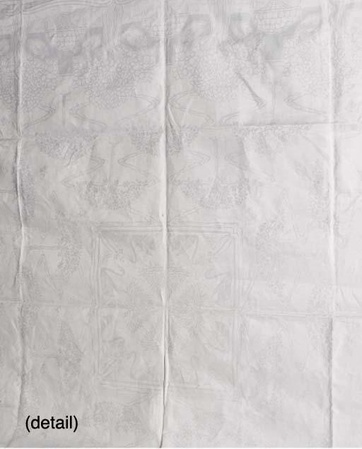 A Linen Damask Table Cloth