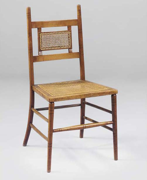AN OAK SIDE CHAIR
