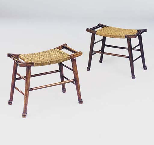 A PAIR OF STOOLS