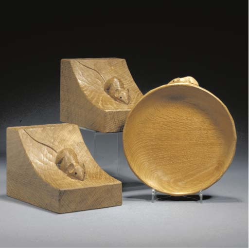A Pair of Oak Book Ends
