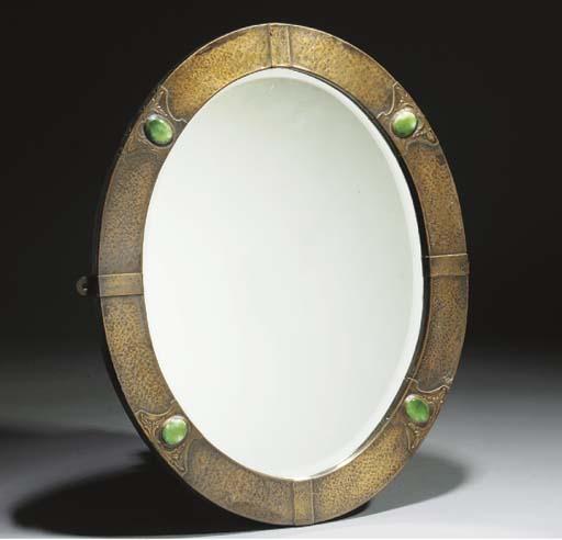 A Copper Oval Mirror