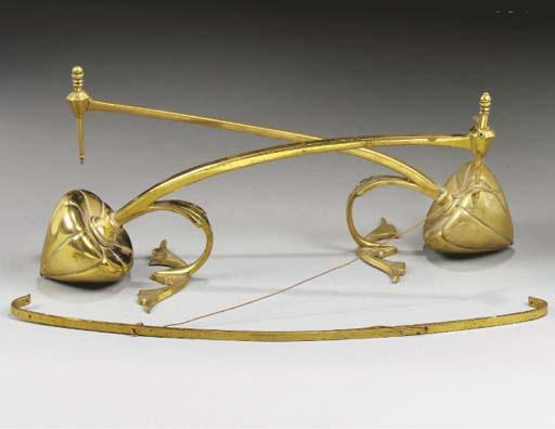 Two Brass Mantlepiece Banner H