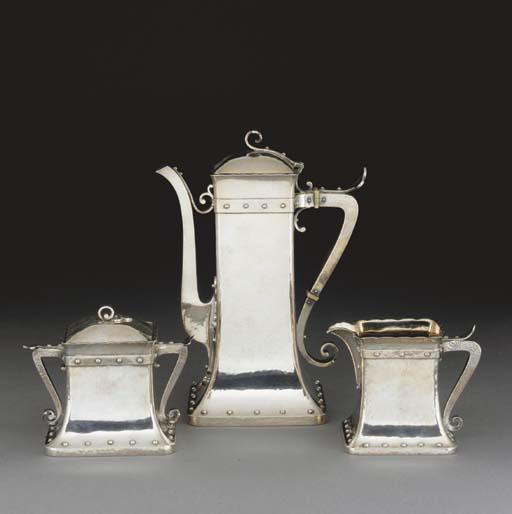 A Silver Coffee Set