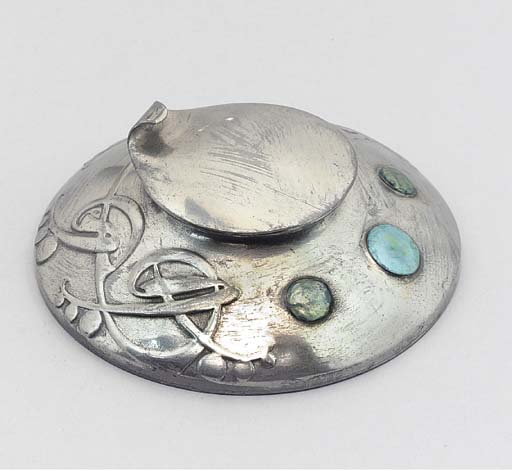 An English Pewter Inkwell