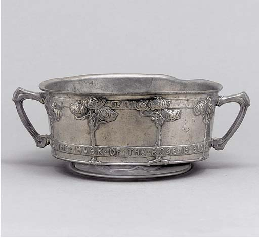 A Tudric Pewter Rose Bowl