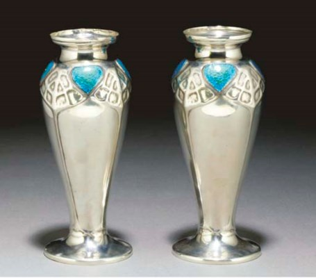 A Pair of English Pewter and E