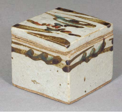 A Lidded Stoneware Box