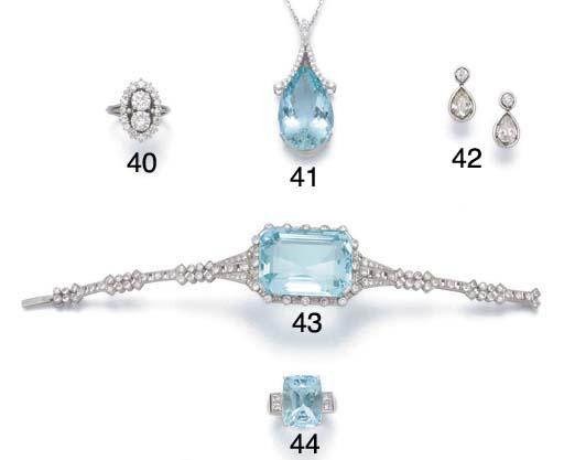 An aquamarine ring,