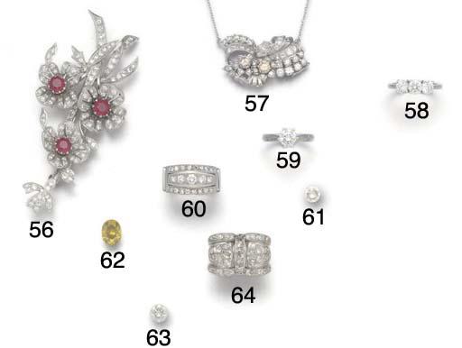 A diamond dress ring,