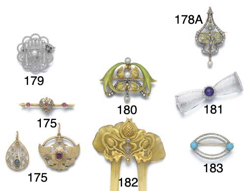Two items of Russian jewellery