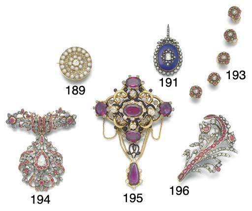A 19th. century gold, diamond