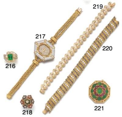 A lady's diamond watch by De L