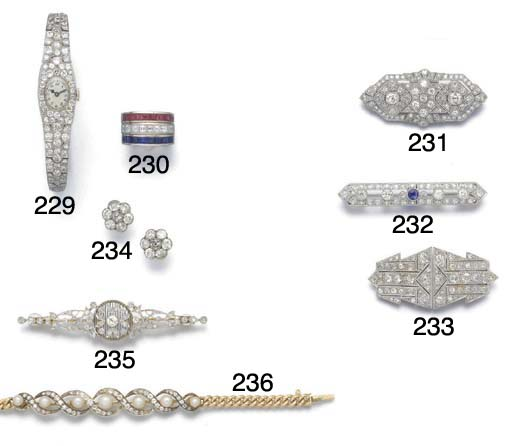 A Belle Epoque diamond and ros
