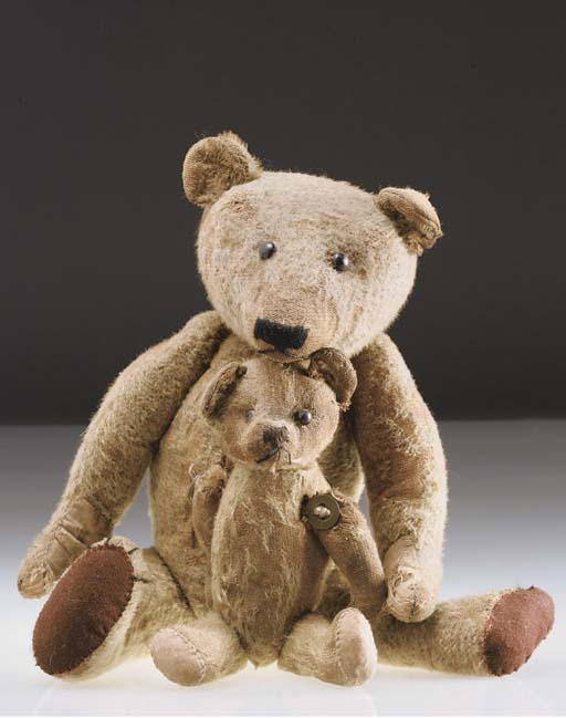 A British string-jointed teddy