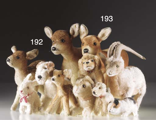 Steiff 1950s animals